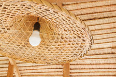 Wicker lamp in the interior,asia design Stock Photo