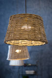 Wicker lamp Royalty Free Stock Photography