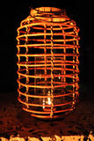 Wicker lamp or light Stock Images