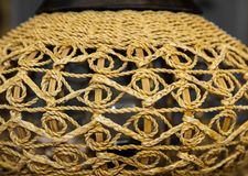Wicker lamp pattern. Royalty Free Stock Images