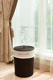 Wicker laundry basket Stock Photography