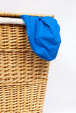 Wicker Laundry Basket Royalty Free Stock Photo