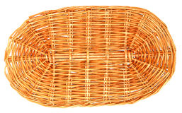 Wicker lid on the basket, background,. Close up view Stock Photography