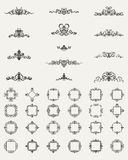 Wicker lines and old decor elements in vector. Royalty Free Stock Image