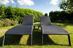 Wicker Lounge Chairs Royalty Free Stock Photo