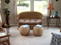 Wicker love seat Stock Photography
