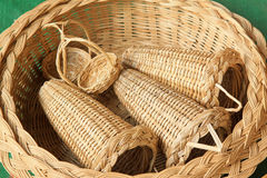 Wicker manual techniques of objects Stock Photography