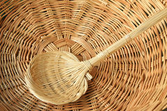 Wicker manual techniques of objects Royalty Free Stock Image