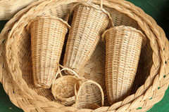 Wicker manual techniques of objects Royalty Free Stock Images