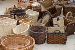 Wicker objects Royalty Free Stock Photography