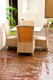 Wicker Outdoor Furniture Royalty Free Stock Image