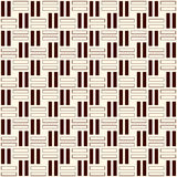 Wicker outline seamless pattern. Basket weave motif. Simple geometric abstract background with overlapping stripes. Royalty Free Stock Photo