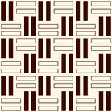 Wicker outline seamless pattern. Basket weave motif. Simple geometric abstract background with overlapping stripes. Royalty Free Stock Photos