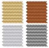Wicker pattern. Four types of wicker pattern illustration stock illustration