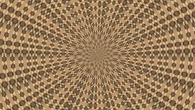 Wicker pattern. Colorful looping kaleidoscope sequence. Abstract motion graphics background.  stock video