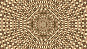Wicker pattern. Colorful looping kaleidoscope sequence. Abstract motion graphics background.  stock video footage