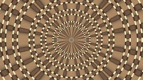 Wicker pattern. Colorful looping kaleidoscope sequence. Abstract motion graphics background.  stock footage