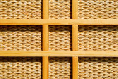 Wicker pattern with grid of wooden bars Royalty Free Stock Photos