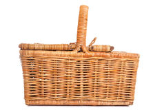 Wicker picnic basket Stock Image