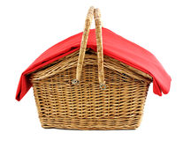 Wicker picnic basket Royalty Free Stock Photography