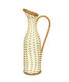 Wicker pitcher isolated on white Royalty Free Stock Images
