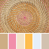 Wicker Placemat,  colour palette swatches. Stock Photography