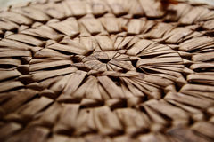 Wicker placemat detail Royalty Free Stock Photos