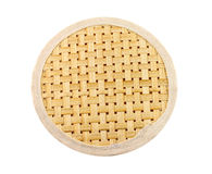 Wicker placemat isolated Royalty Free Stock Photography
