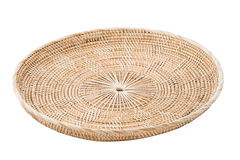 Wicker placemat isolated Royalty Free Stock Images