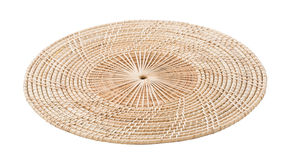 Wicker placemat isolated Stock Photo