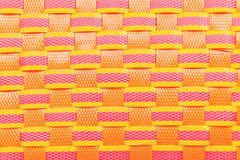 Wicker plastic colorful pattern Stock Image