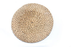 Wicker plate. A plate made of wicker Royalty Free Stock Images