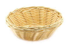 Wicker plate Stock Photography