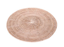 wicker plate Stock Image