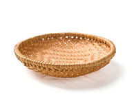 Wicker plate Royalty Free Stock Photo