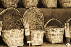 Wicker products Royalty Free Stock Image