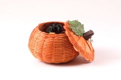 Wicker Pumpkin  Stock Images
