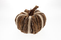 Wicker Pumpkin Stock Image