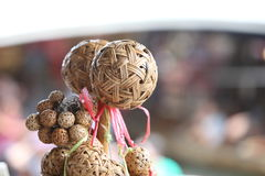 Wicker rattan ball for sell Stock Images