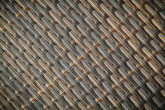 Wicker or rattan bamboo material Stock Images