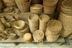 Wicker rattan product. And baskets Stock Photos
