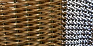 Wicker / Rattan seamless texture with two light sources stock illustration
