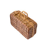 Wicker retro suitcase stock photo