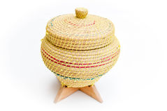 A wicker rice background box Royalty Free Stock Photo