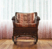 Wicker rocking chair composition Royalty Free Stock Photo