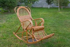 Wicker rocking-chair Stock Image