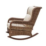 Wicker rocking chair Stock Image