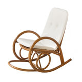 Wicker rocking chair Stock Photo