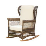 Wicker rocking chair Stock Photos