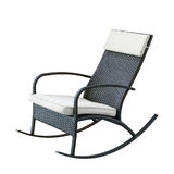 Wicker rocking chair Stock Images